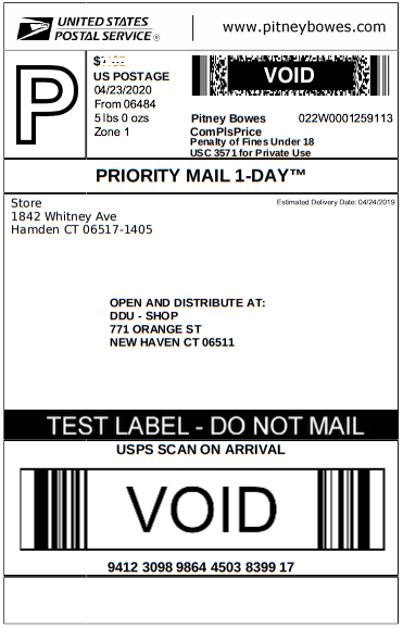 Create a Priority Mail Open and Distribute (PMOD) Label — PB